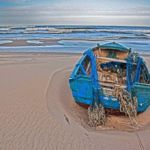 Kuźnica - kuter na plaży