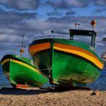 Kutry na plaży w Orłowie