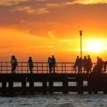Ustronie Morskie- zachód słońca