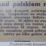 Nad Bałtykiem upały...