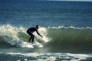 Surfing na Bałtyku - Władysławowo wysokie fale