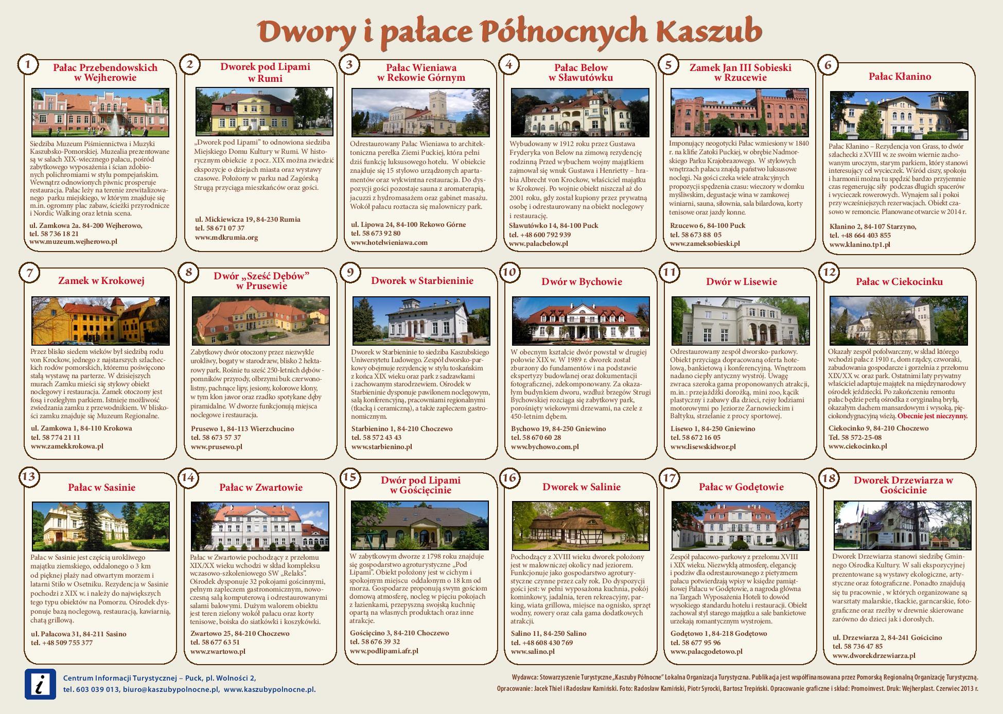 Szlak dworów i pałaców Kaszuby