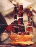 Statek z bursztynu-pracownia Damroka Władysławowo