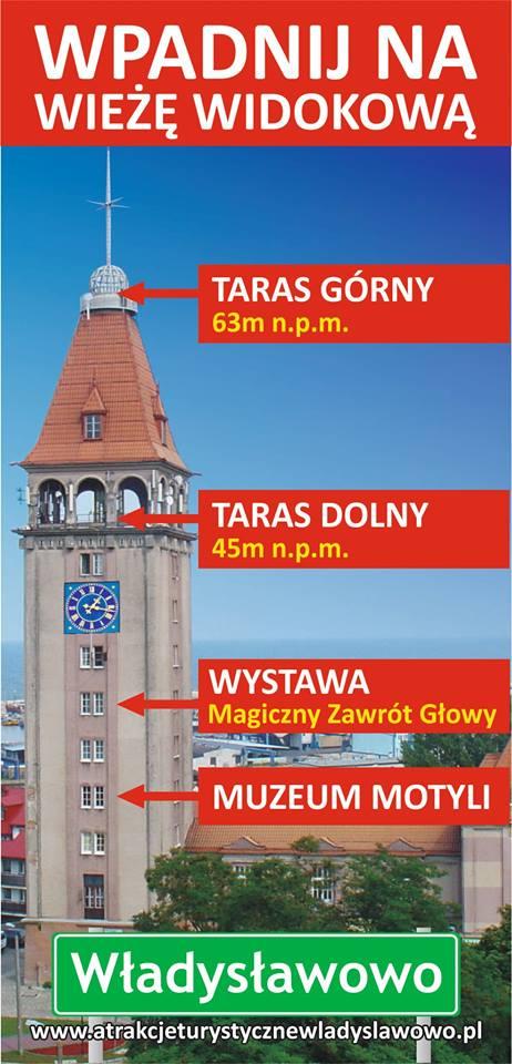 Władysławowo Muzeum Iluzji w wieży widokowej