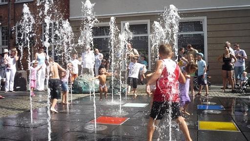Atrakcje dla dzieci Gdańsk fontanna 4 kwartałów