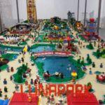 Kilkumetrowa makieta Lunaparku robi wrażenie nie tylko na dzieciach!Wystawa klocków 2014