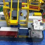 Terminal kontenerowy z klocków Lego-Wystawa Swarzewo k. Władysławowa