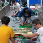 Składanie wystawy to setki godzin pracy! Wystawa Morze Klocków Swarzewo 2014